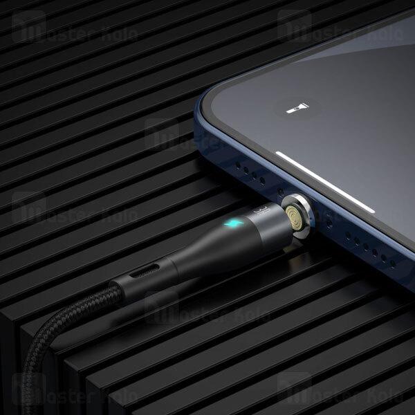 کابل مگنتی سه سر بیسوس Baseus Zinc Magnetic Fast Date Cable MLC CA1T3-AG1 طول 1 متر توان 3 آمپر
