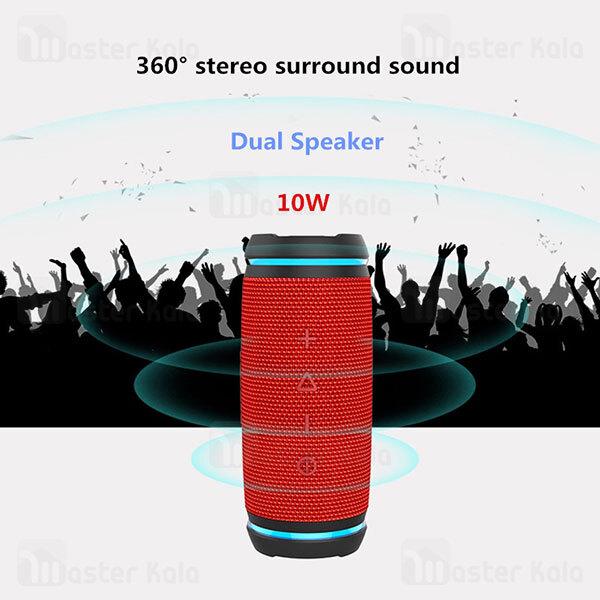 اسپیکر بلوتوث دبلیو کینگ W-King D3 Mini TWS Bluetooth Speaker 10W رم خور و توان 10 وات