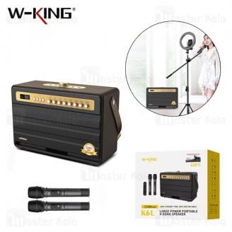 اسپیکر بلوتوث دبلیو کینگ W-King K6L Wireless Speaker توان 120 وات رم و فلش خور با دو عدد میکروفون