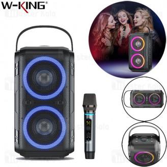 اسپیکر بلوتوث دبلیو کینگ W-King T9 Wireless Speaker توان 80 وات رم و فلش خور با یک عدد میکروفون