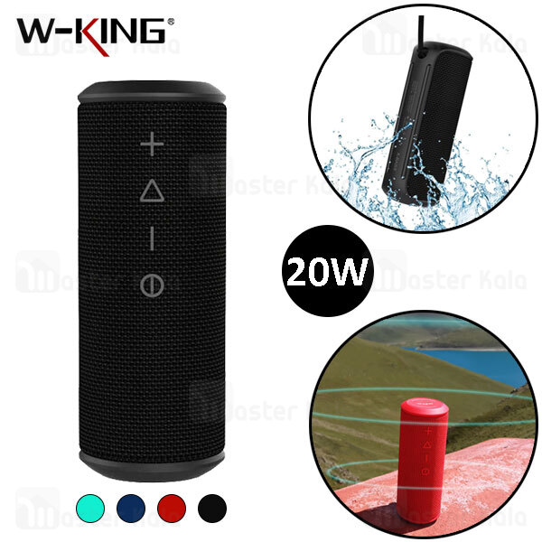 اسپیکر بلوتوث دبلیو کینگ W-King X6s TWS Bluetooth Speaker 20W رم خور و توان 20 وات