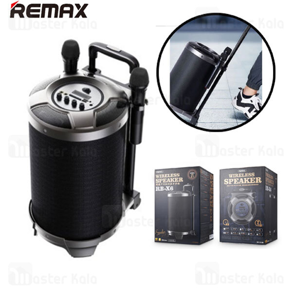 اسپیکر بلوتوث ریمکس Remax RB-X6 Wireless Speaker With 2 Microphones توان 57 وات