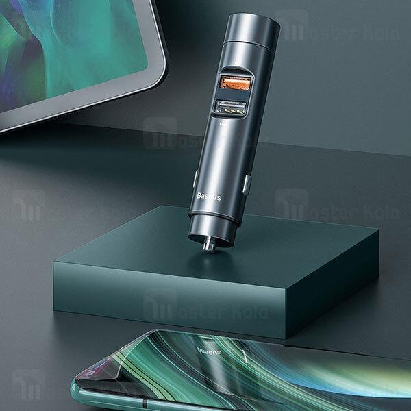 شارژر فندکی و پخش کننده بلوتوث بیسوس Baseus Energy Column Car Wireless CCNLZ-C0G توان 18 وات