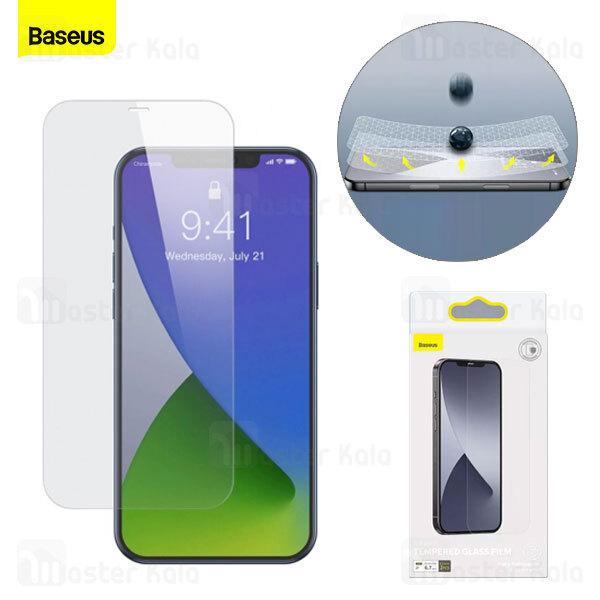 پک 2 تایی محافظ صفحه شیشه ای تمام صفحه Baseus SGAPIPH61P-FM02 Apple iPhone 12 / 12 Pro Glass