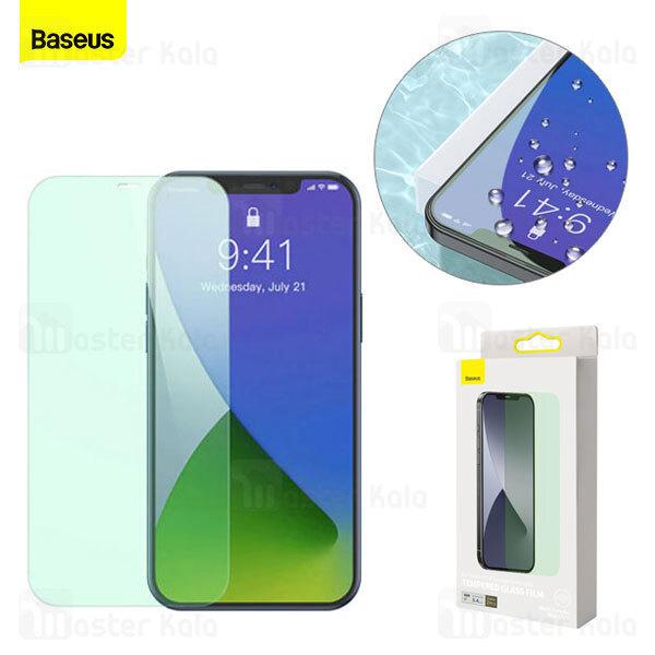 پک 2 تایی محافظ صفحه  ضد اشعه بیسوس Baseus SGAPIPH67N-LP02 iPhone 12 Pro Max Green Tempered Glass