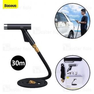 شلنگ و نازل کارواش Baseus Car Wash Spray Nozzle CRXC01-C01 طول 30 متری