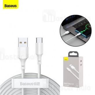 پک 2 تایی کابل Type C بیسوس Baseus Simple Wisdom Data Cable Kit TZCATZJ-02 توان 40 وات طول 1.5 متر