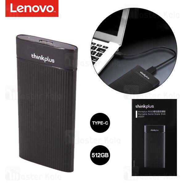 درایو SSD اکسترنال لنوو Lenovo Thinkplus US201 512GB Portable External SSD Type C ظرفیت 512 گیگابایت