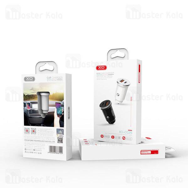 شارژر فندکی فست شارژ ایکس او XO CC25 Mini Smart Car Charger PD and QC3.0 با توان 36W