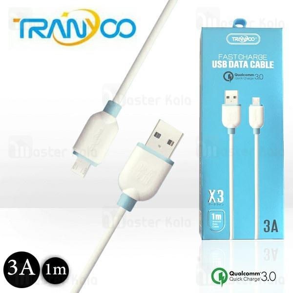 کابل میکرو یو اس بی فست شارژ ترانیو Tranyoo X3 QC3.0 Cable توان 3 آمپر