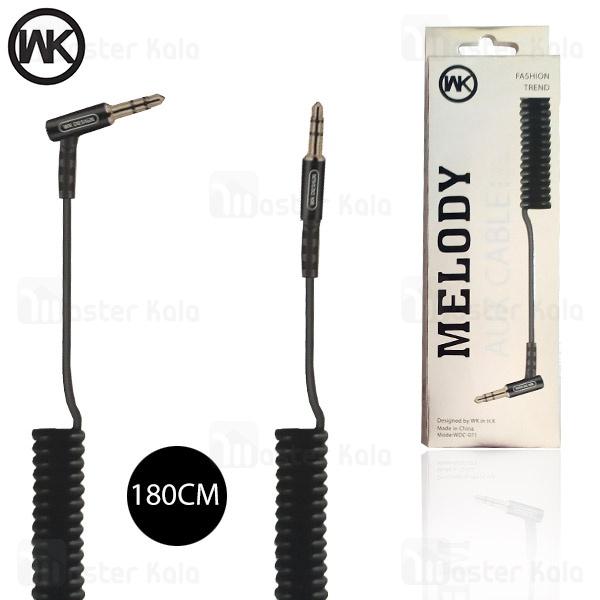 کابل انتقال صدا تلفنی Aux دبلیو کی WK WDC-071 Melody به طول 1.8 متر