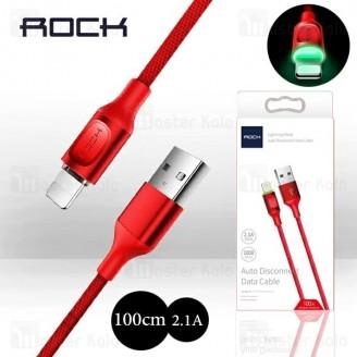 کابل لایتنینگ راک Rock RCB0619 Cable توان 2.1 آمپر و دارای قطع کن خودکار