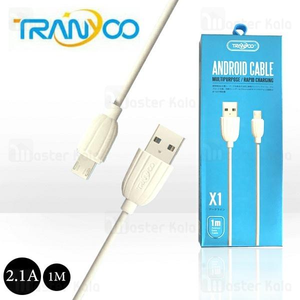 کابل میکرو یو اس بی ترانیو Tranyoo X1 Cable توان 2.1 آمپر و طول 1 متر