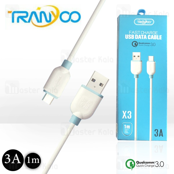 کابل Type C فست شارژ ترانیو Tranyoo X3 QC3.0 Cable توان 3 آمپر