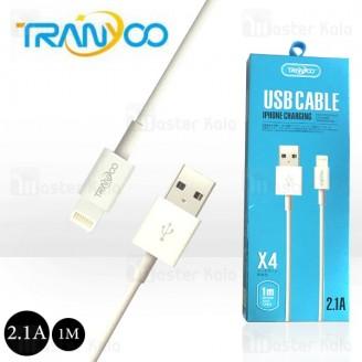 کابل لایتنینگ ترانیو Tranyoo X4 Cable توان 2.1 آمپر و طول 1 متر