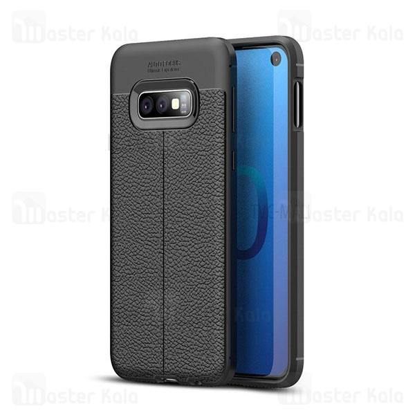 قاب محافظ ژله ای طرح چرم سامسونگ Samsung Galaxy S10e Auto Focus