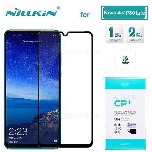 محافظ صفحه شیشه ای تمام صفحه نیلکین هواوی Huawei Nova 4e / P30 Lite Nillkin CP+ Glass