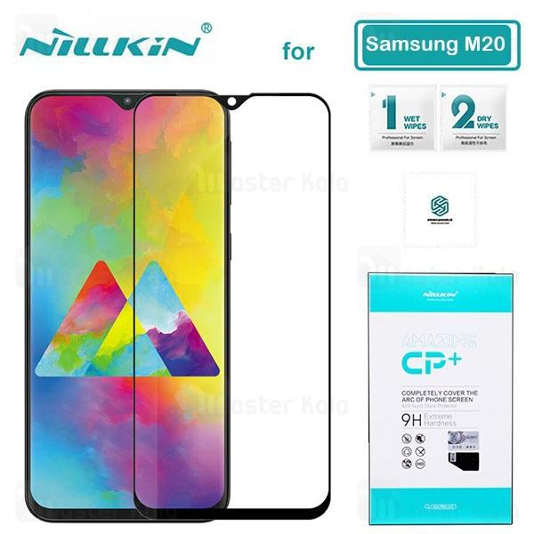 محافظ صفحه شیشه ای تمام صفحه تمام چسب نیلکین سامسونگ Samsung Galaxy M20 Nillkin CP+ Glass