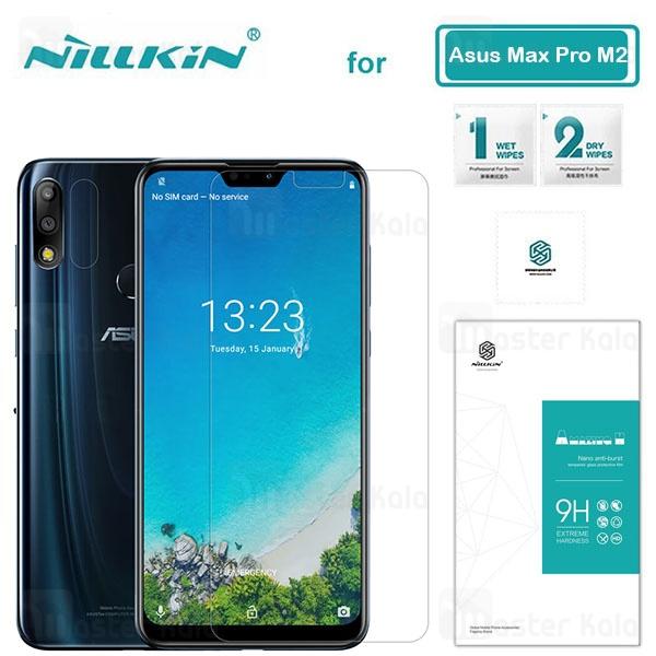 محافظ صفحه نمایش شیشه ای نیلکین ایسوس Asus Zenfone Max Pro M2 Zb631kl Nillkin H Glass