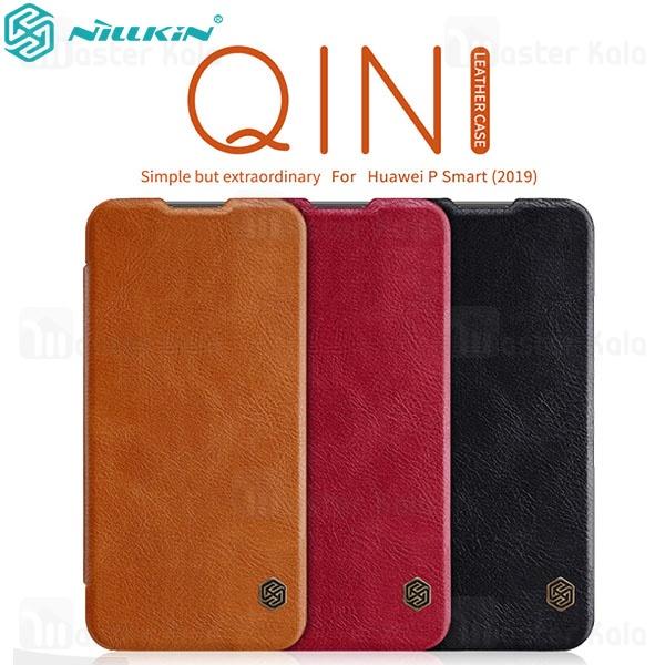 کیف چرمی نیلکین هواوی Huawei P Smart 2019 Nillkin Qin Leather Case