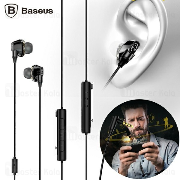 هندزفری سیمی بیسوس Baseus Immersive virtual 3D gaming earphone NGH08-01 طراحی گیمینگ