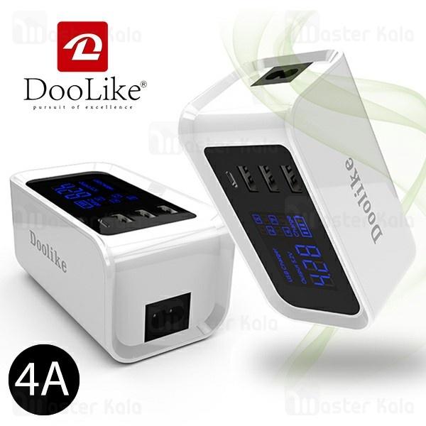 هاب شارژر دولایک Doolike DL-CH20 USB Charger With Type-C Port چهار پورت