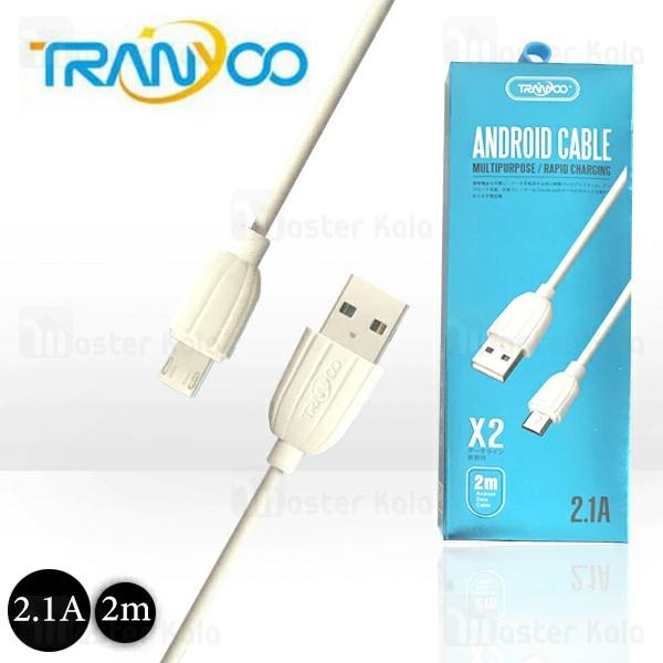 کابل میکرو یو اس بی ترانیو Tranyoo X2 Cable توان 2.1 آمپر و طول 2 متر