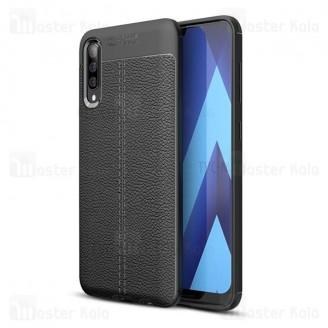 قاب محافظ ژله ای طرح چرم سامسونگ Samsung Galaxy A70 / A705 Auto Focus