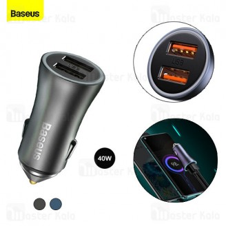 شارژر فندکی فست شارژ بیسوس Baseus Golden Contactor Pro Dual USB A QC CCJD-A0G توان 40W