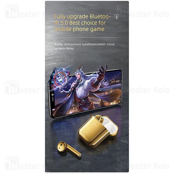 هندزفری بلوتوث دوگوش Joyroom JR-T03S Upgraded Gold Edition 2020