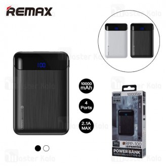 پاوربانک 10000 ریمکس Remax RPP-100 Repin Series Power Bank 2USB توان 2.1 آمپر