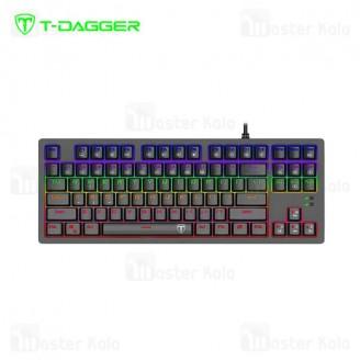 کیبورد سیمی گیمینگ T-Dagger Bali T-TGK311 Gaming Mechanical Keyboard RGB Backlighting