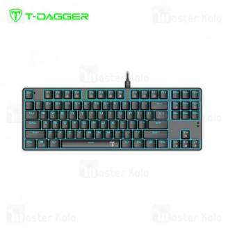 کیبورد سیمی گیمینگ T-Dagger Bora T-TGK313 Gaming Mechanical Keyboard Backlight