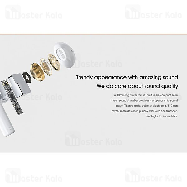 هندزفری بلوتوث دوگوش کیو سی وای QCY T12 True Wireless Earphones