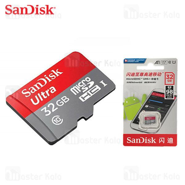 کارت حافظه میکرو اس دی 32 گیگابایت Sandisk 653x 98MBs A1 UHS-I