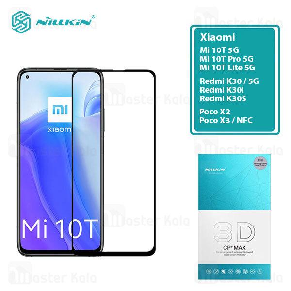 محافظ صفحه شیشه ای دورچسب تمام صفحه نیلکین Xiaomi Mi 10T / 10T Pro / 10T Lite Nillkin 3D CP+ Max