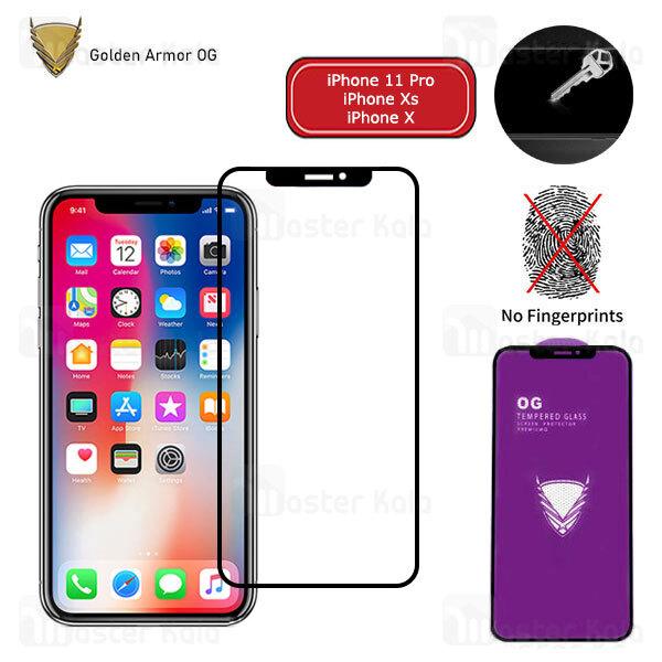 محافظ صفحه شیشه ای تمام صفحه تمام چسب OG اپل Apple iPhone 11 Pro / Xs / X OG 2.5D Glass