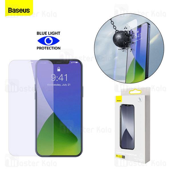 پک 2تایی محافظ صفحه شیشه ای تمام صفحه و ضد اشعه بیسوس Apple iPhone 12 Mini Baseus SGAPIPH54N-LF02