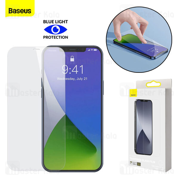 پک 2تایی محافظ صفحه شیشه ای تمام صفحه بیسوس آیفون Apple iPhone 12 Pro Max Baseus SGAPIPH67N-LS02
