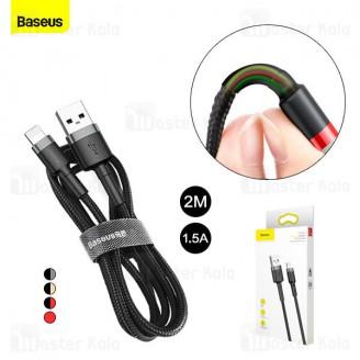 کابل لایتنینگ بیسوس Baseus Cafule USB to Lightning Cable CALKLF-CG1 QC3.0 طول 2 متر توان 1.5 آمپر