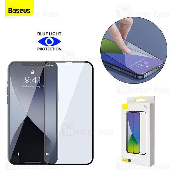 پک 2تایی محافظ صفحه شیشه ای تمام صفحه و ضد اشعه بیسوس Apple iPhone 12 Mini Baseus SGAPIPH54N-KB01