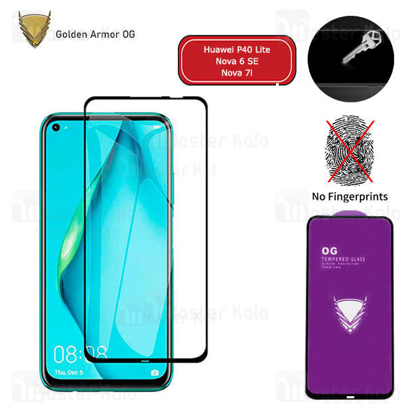 محافظ صفحه شیشه ای تمام صفحه تمام چسب OG هواوی Huawei P40 Lite / Nova 6 SE / Nova 7i OG 2.5D Glass