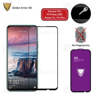 محافظ صفحه شیشه ای تمام صفحه تمام چسب OG هواوی Huawei Y9s / Y9 Prime 2019 / Honor 9x / 9x Pro OG 2.5D Glass