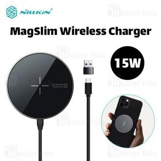 شارژر وایرلس نیلکین Nillkin MagSlim NKT06 Wireless Charger توان 15 وات مخصوص سری آیفون 12
