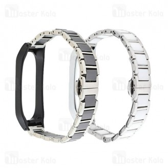 بند فلزی دستبند سلامتی شیائومی Xiaomi Mi Band 5 / 6 Stainless Steel Link Strap