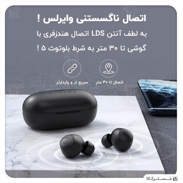 هندزفری بلوتوث دوگوش شیائومی هایلو Xiaomi Haylou T16 TWS ANC Bluetooth Earbuds