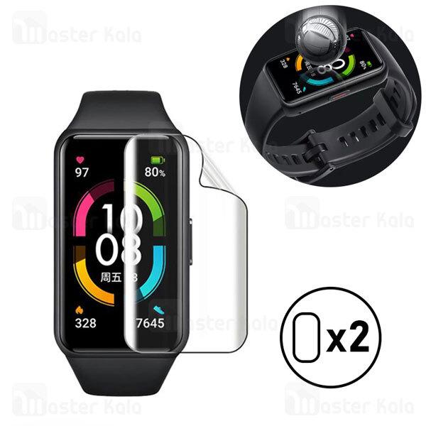 پک 2تایی محافظ نانو دستبند سلامتی هواوی Huawei Honor Band 6 TPU Screen Protector