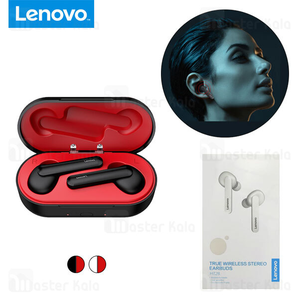 هندزفری بلوتوث دوگوش لنوو Lenovo HT28 TWS Bluetooth Headset