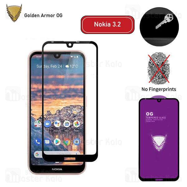 محافظ صفحه شیشه ای تمام صفحه تمام چسب OG نوکیا Nokia 3.2 OG 2.5D Glass