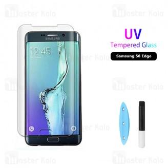 محافظ صفحه شیشه ای تمام صفحه و خمیده یو وی سامسونگ Samsung Galaxy S6 Edge UV Nano Glass